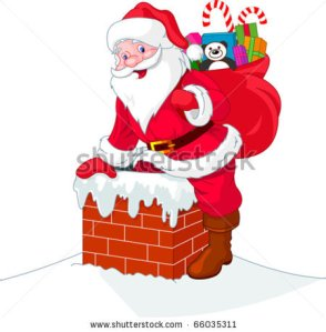 stock-vector-santa-claus-descends-the-chimney-he-keeps-a-bag-of-gifts-66035311